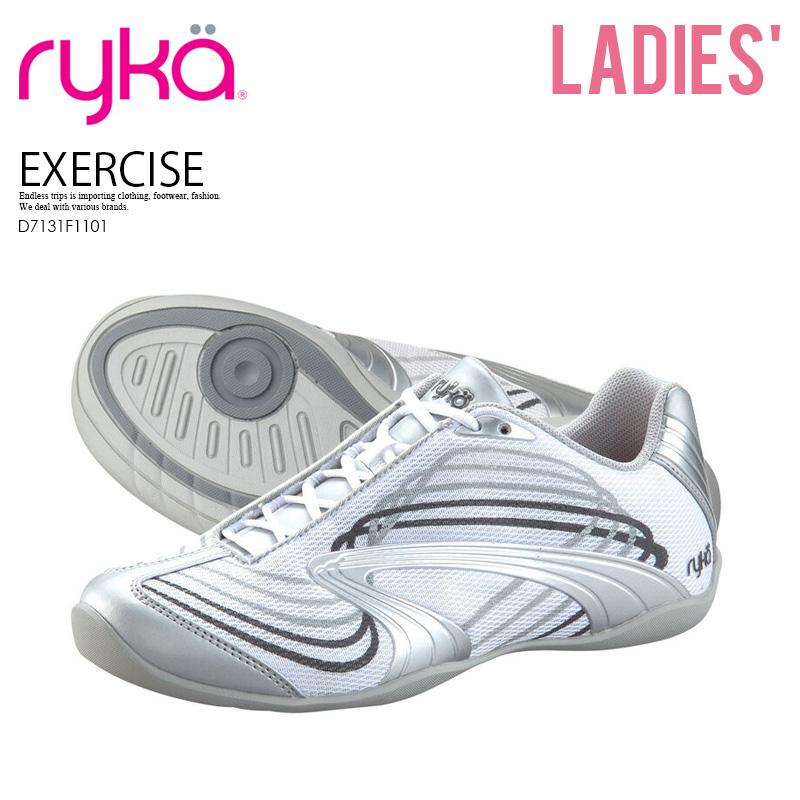 【希少!大人気!レディース モデル】 RYKA (ライカ) STUDIO D XT (スタジオ) WOMENS ウィメンズ ダンス エクササイズ フィットネス シューズ スニーカー WHT/SLVR (ホワイト/シルバー) D7131F1101 ENDLESS TRIP ENDLESSTRIP エンドレストリップ