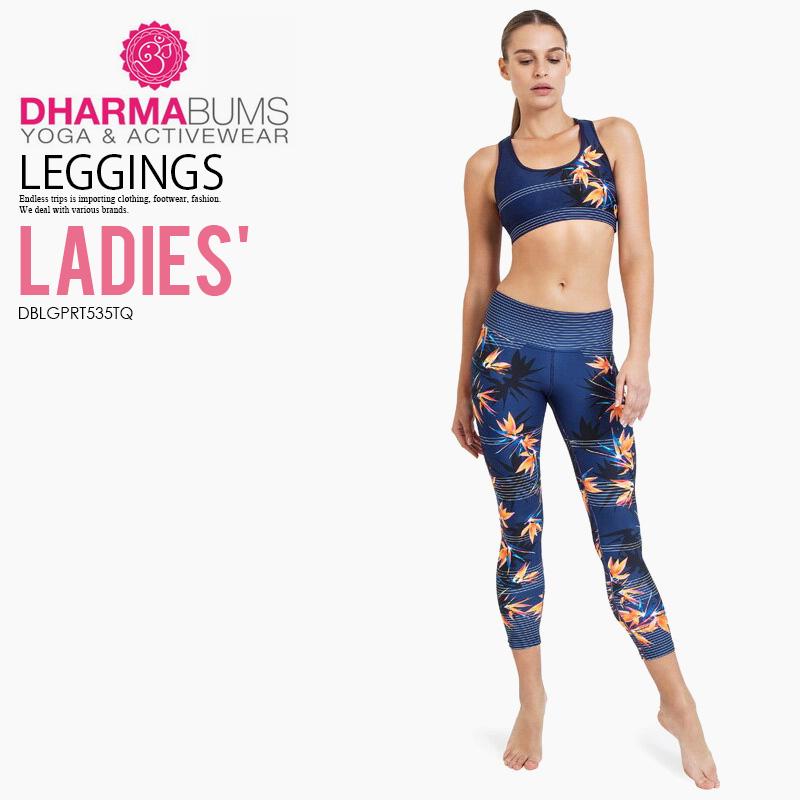 【希少!大人気!レディース ヨガ レギンス】 Dharma Bums (ダーマ バムズ) Lost in Paradise Standard Waist Printed Yoga Legging 7/8 Length フィットネス ウィメンズ Paradise Found print (パラダイス ファウンド) DBLGPRT535TQ ENDLESS TRIP エンドレストリップ