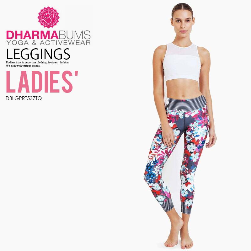 【希少!大人気!レディース ヨガ レギンス】 Dharma Bums (ダーマ バムズ) Floral Pop Standard Waist Printed Yoga Legging 7/8 フィットネス スポーツ ウィメンズ Pop Floral print (ポップ フローラル) DBLGPRT537TQ ENDLESS TRIP ENDLESSTRIP エンドレストリップ