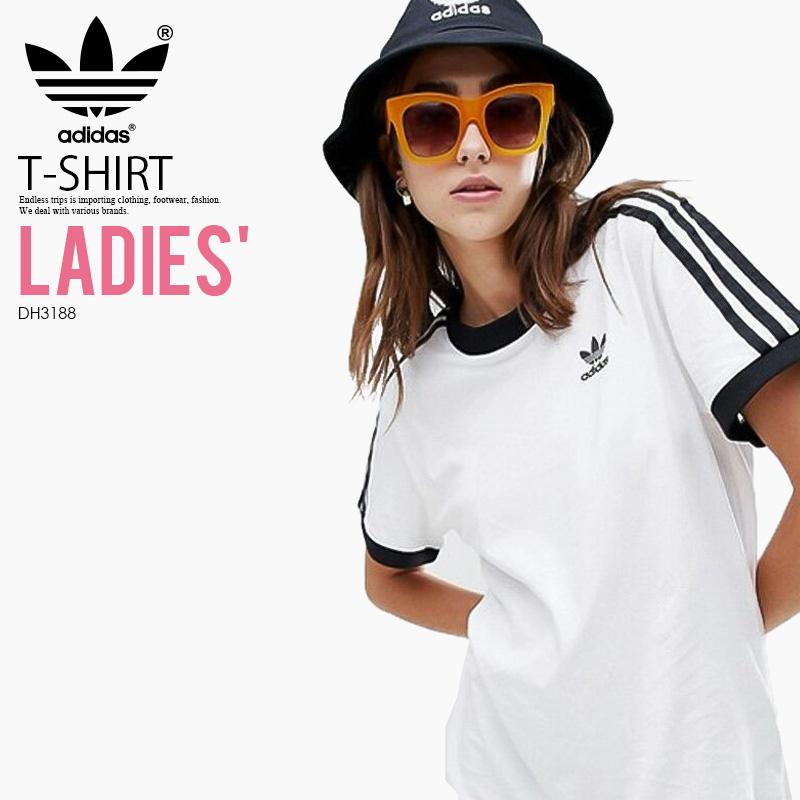 2118cc0d ENDLESS TRIP: adidas (Adidas) WOMENS 3-STRIPES TEE (3 stripe T-shirt ...