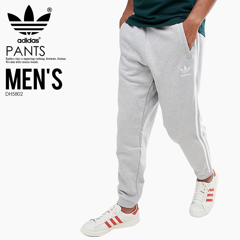 adidas (Adidas) 3-STRIPES PANTS (3 stripe underwear) MENS men underwear  skinny pants Kinney jersey MEDIUM GREY HEATHER (gray) DH5802 ass recreation  ...