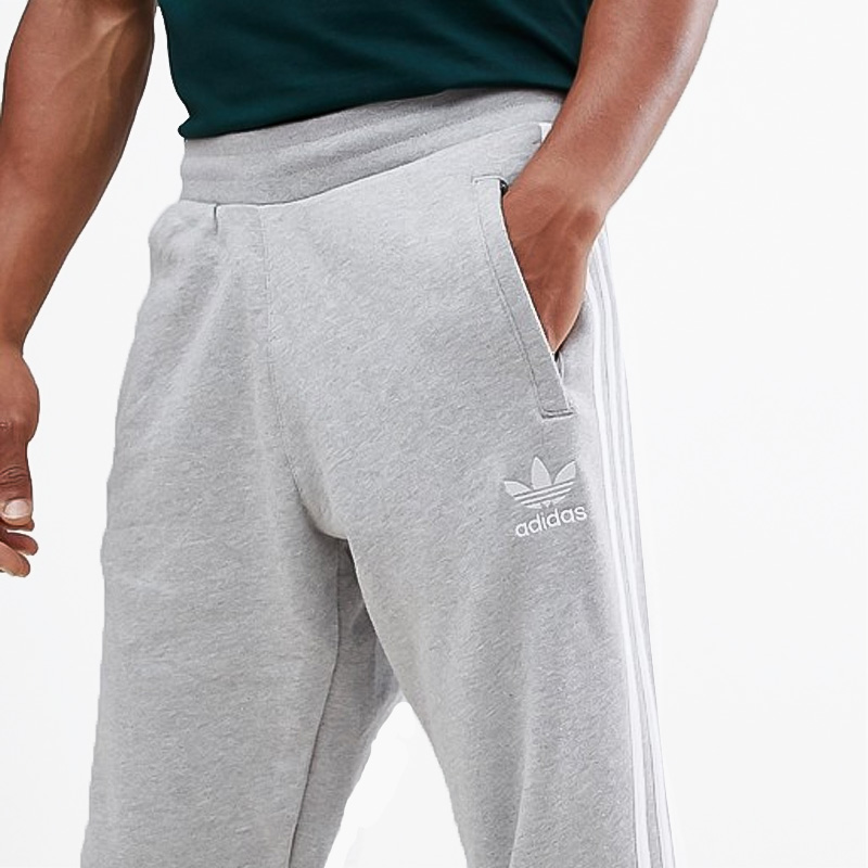 5b6d65d6a2 adidas (Adidas) 3-STRIPES PANTS (3 stripe underwear) MENS men underwear  skinny pants Kinney jersey MEDIUM GREY HEATHER (gray) DH5802 ass recreation  sports ...