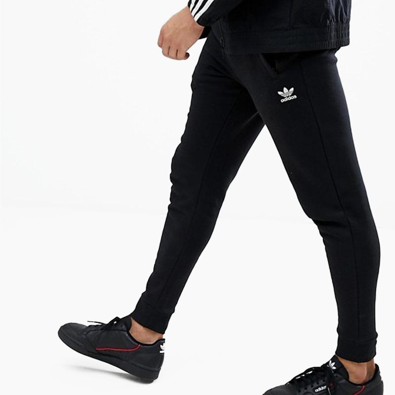 adidas (Adidas) SLIM FLEECE PANTS (SLIM FLC PANT) (slim fleece underwear)  MENS men underwear skinny pants Kinney jersey BLACK (black) DN6009 ass  recreation ...