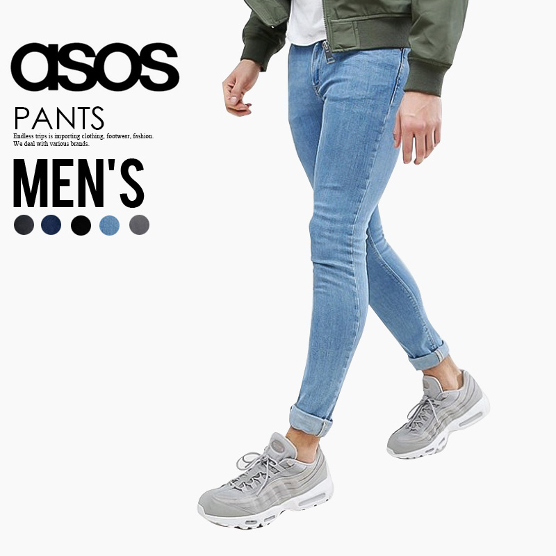 a67a3491c ASOS (エイソス) EXTREME SUPER SKINNY JEANS (extreme supermarkets Kinney jeans)  men's denim ...
