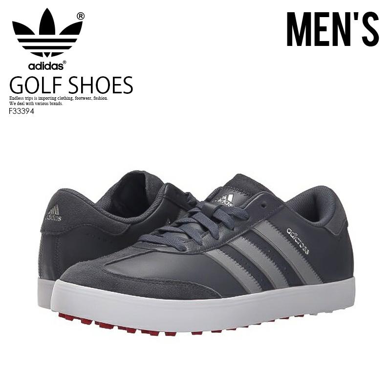 【訳あり!!】【希少!入手困難】【メンズ スパイクレス ゴルフシューズ】adidas (アディダス) ADICROSS V GOLF SHOES ONIX/LTONIX/FTWWHT (グレー/ホワイト) F33394 ENDLESSTRIP エンドレストリップ【※箱ダメージ、もしくは別箱でのお届け】
