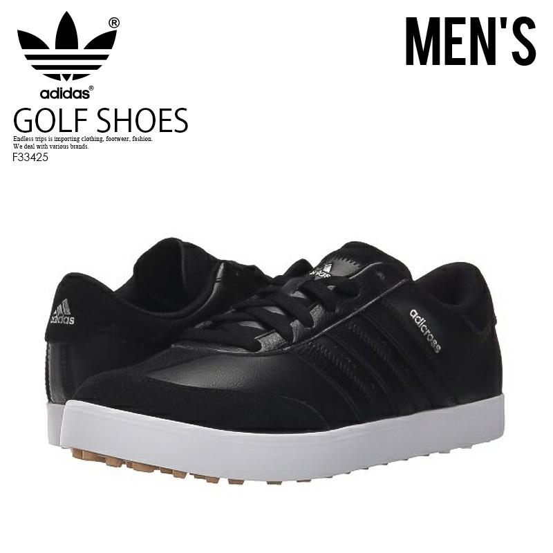【お買い物マラソン】【希少!大人気!入手困難!】【メンズ スパイクレス ゴルフシューズ】adidas (アディダス) ADICROSS V GOLF SHOES WD 幅広モデル CBLACK/CBLACK/FTWWHT (ブラック/ホワイト) F33425