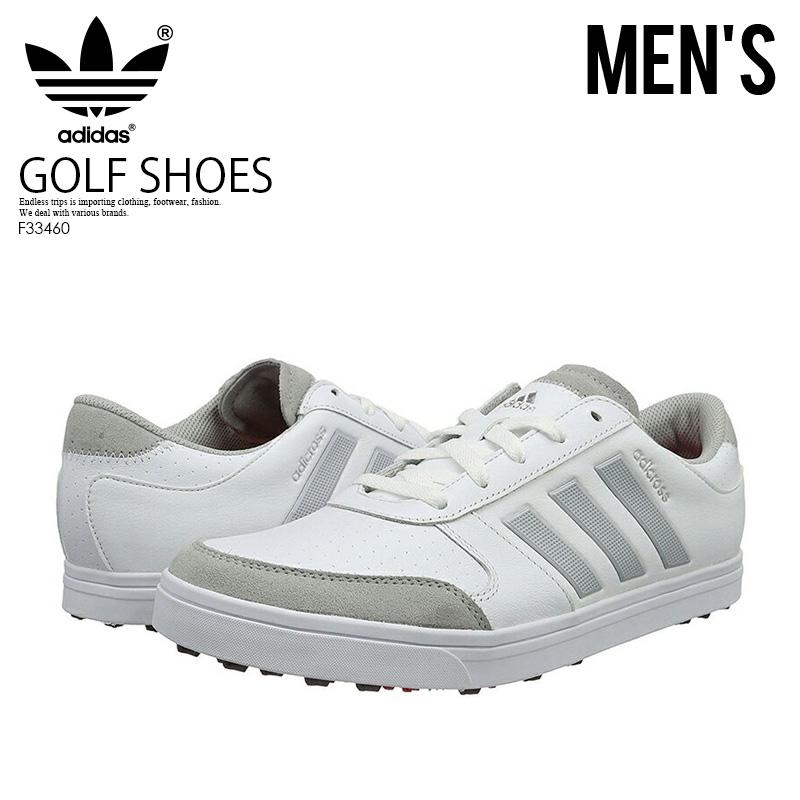 【日本未入荷!希少!メンズ ゴルフシューズ】 adidas (アディダス) ADICROSS GRIPMORE 2.0 (アディクロス グリップモア) MENS GOLF SHOES スパイクレス FTWWHT/CLONIX/RAYRED (ホワイト/グレー) F33460 ENDLESS TRIP