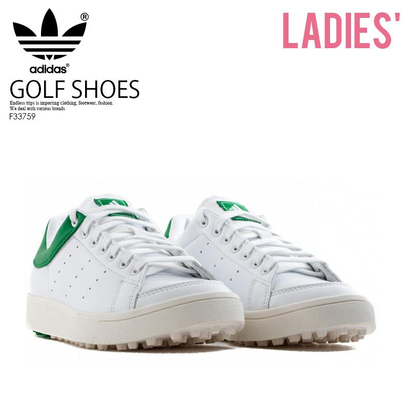 31c92e23c1c6 adidas (Adidas) Jr ADICROSS CLASSIC (アディクロスクラシック) WOMENS GOLF SHOES  spikesless FTWWHT FTWWHT GREEN (white   green) F33759 ENDLESS TRIP ...