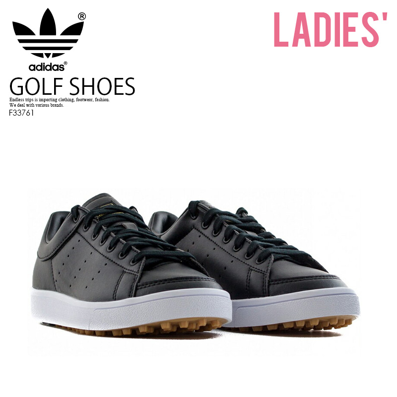 e05ed7d064b1 adidas (Adidas) Jr ADICROSS CLASSIC (アディクロスクラシック) WOMENS GOLF SHOES  spikesless CBLACK CBLACK FTWWHT (black) F33761