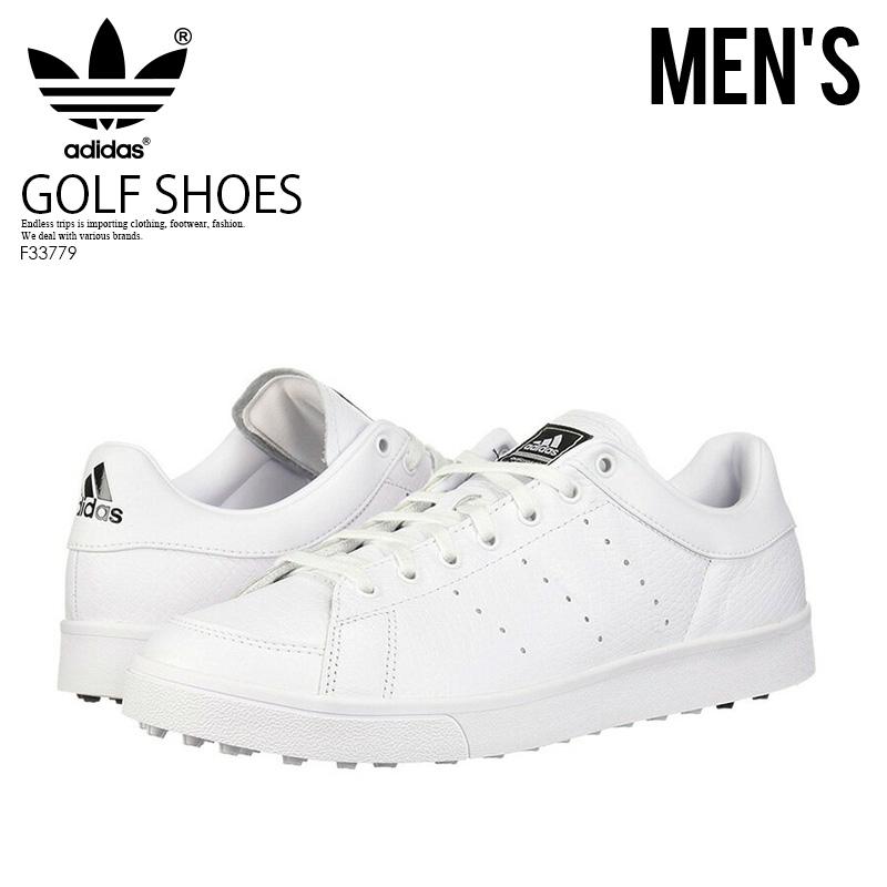 【大人気!希少!メンズ ゴルフシューズ】 adidas (アディダス) ADICROSS CLASSIC WD (アディクロス クラシック) MENS GOLF SHOES スパイクレス FTWWHT/FTWWHT/CBLACK (ホワイト/ブラック) F33779 ENDLESS TRIP