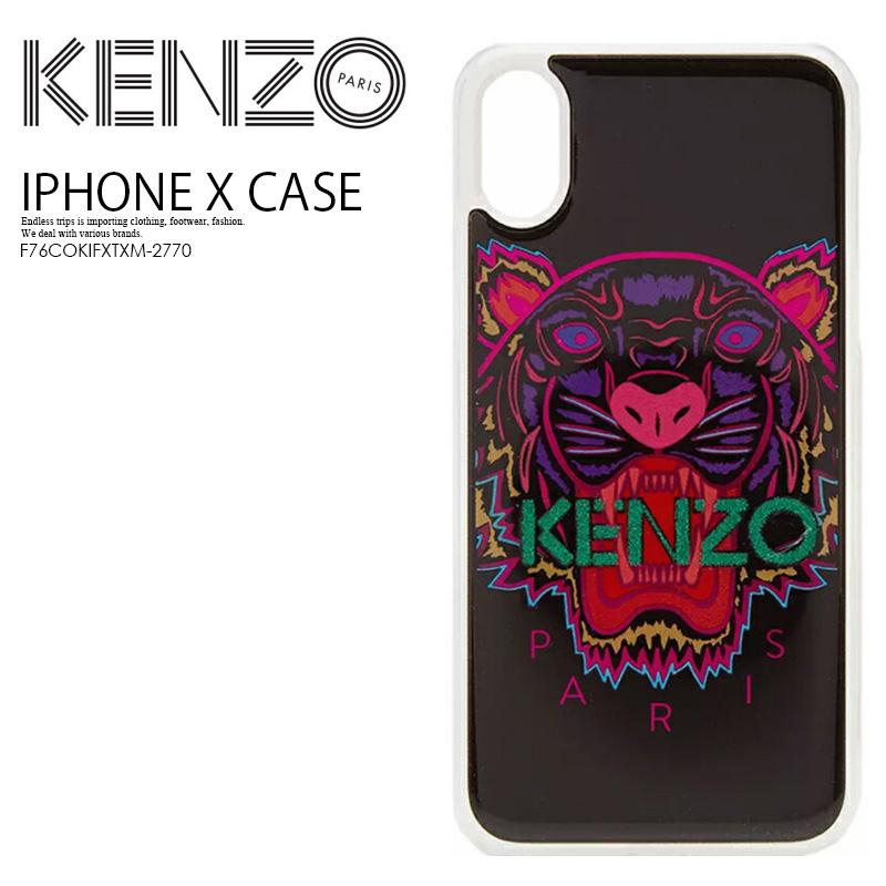 【大人気! 希少!】 KENZO(ケンゾー) KENZO IPHONE X TIGER CASE (タイガー iphone X ケース) iphoneケース スマホケース アイフォンX iPhone X 対応 CORAL (コーラル) ピンク F76COKIFXTXM-27 ENDLESS TRIP ENDLESSTRIP エンドレストリップ