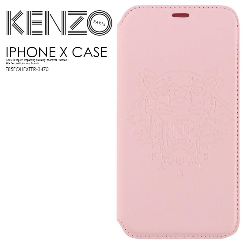 【大人気! 希少!】 KENZO(ケンゾー) KENZO TIGER IPHONE X FOLIO CASE (タイガー iphone X フォリオ ケース) iphoneケース アイフォンX iPhone X 対応 手帳型ケース スマホケース PINK (ピンク) F85FOLIFXTFR-3470 ENDLESS TRIP ENDLESSTRIP エンドレストリップ