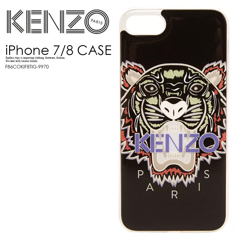 quality design 2f640 ddbc4 KENZO (Kenzo) KENZO SILICONE TIGER IPHONE 7/8 CASE (silicon tiger iphone  7/8 case) iphone case smartphone case eyephone 7/8 iPhone 7/8-adaptive  BLACK ...