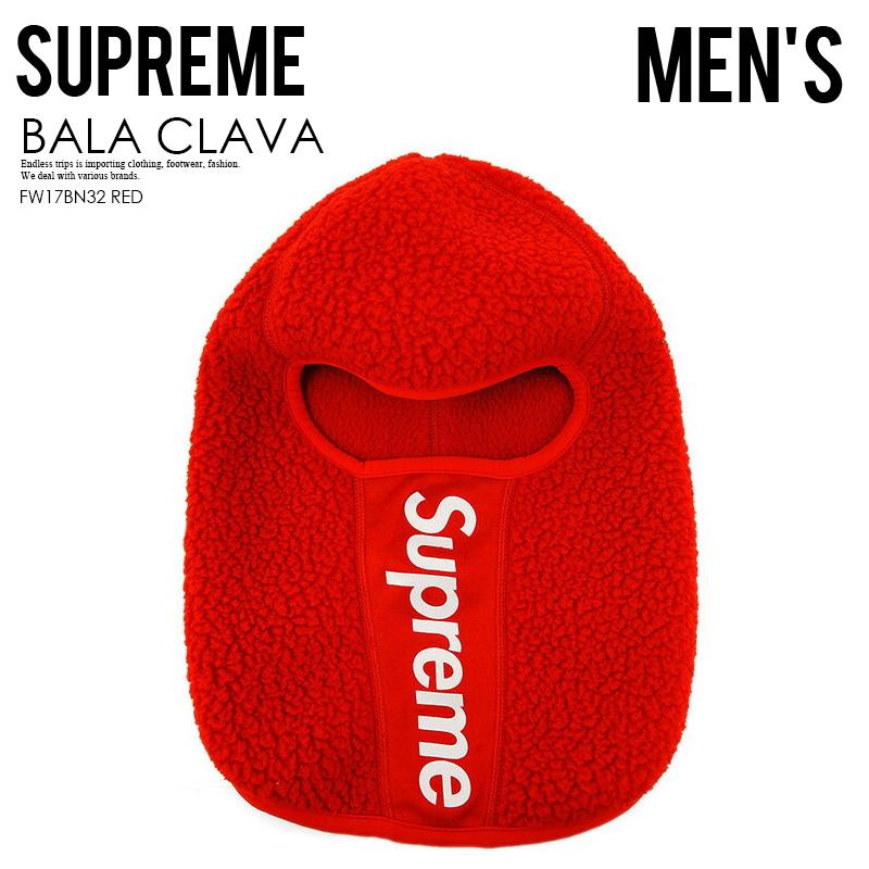 【日本未入荷!希少!メンズ バラクラバ】 Supreme (シュプリーム) POLAR TECH DEEP PILE BALA CLAVA (ポラール テック ディープ パイル) 帽子 目出し帽 RED (レッド) FW17BN32 ENDLESS TRIP ENDLESSTRIP エンドレストリップ