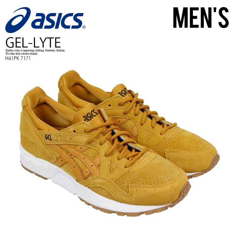check out 95644 8efac Asics Tiger (ASICS tiger) GEL-LYTE V (gel light five) MENS shoes TAN/TAN  (beige) H61PK 7171 ENDLESS TRIP ENDLESSTRIP end rest lip