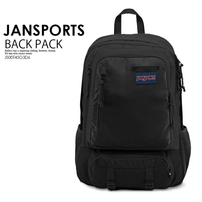 【大人気!!入手困難】JANSPORT (ジャンスポーツ) ENVOY BACKPACK (エンヴォイ バックパック) ユニセックス メンズ レディース デイパック リュック BLACK TRIANGLE DOBBY (ブラック) JS00T45G3D6 ENDLESS TRIP ENDLESSTRIP エンドレストリップ