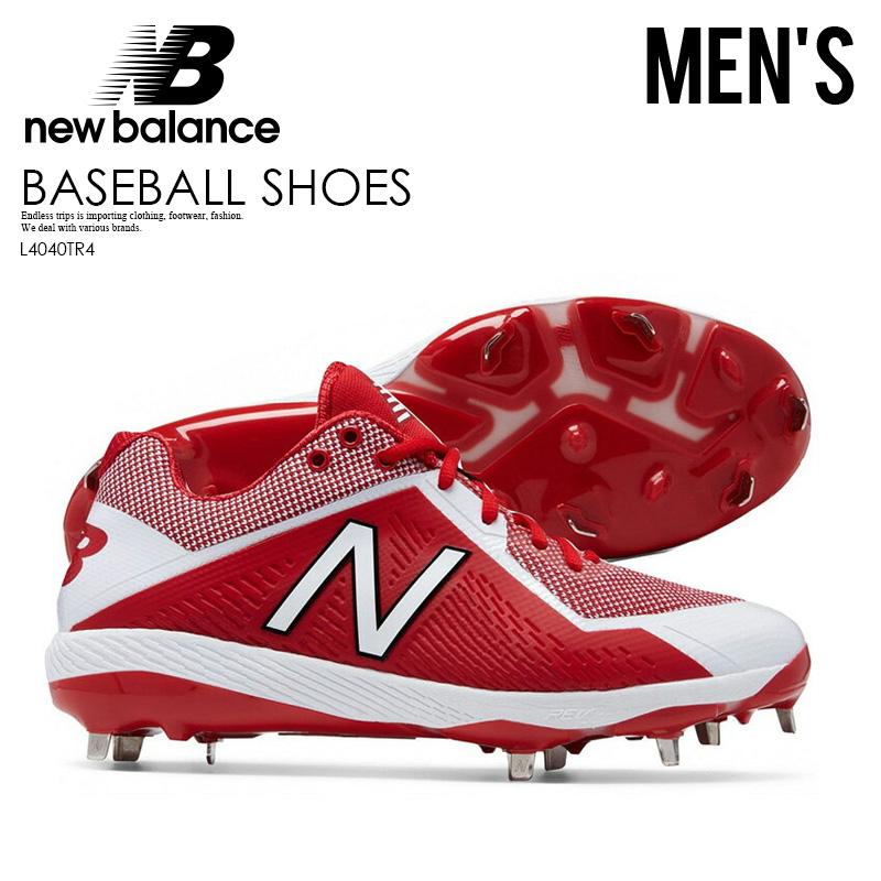 785887e976ec3 NEW BALANCE (New Balance) METAL LOW (metal low) baseball spikes RED/ ...
