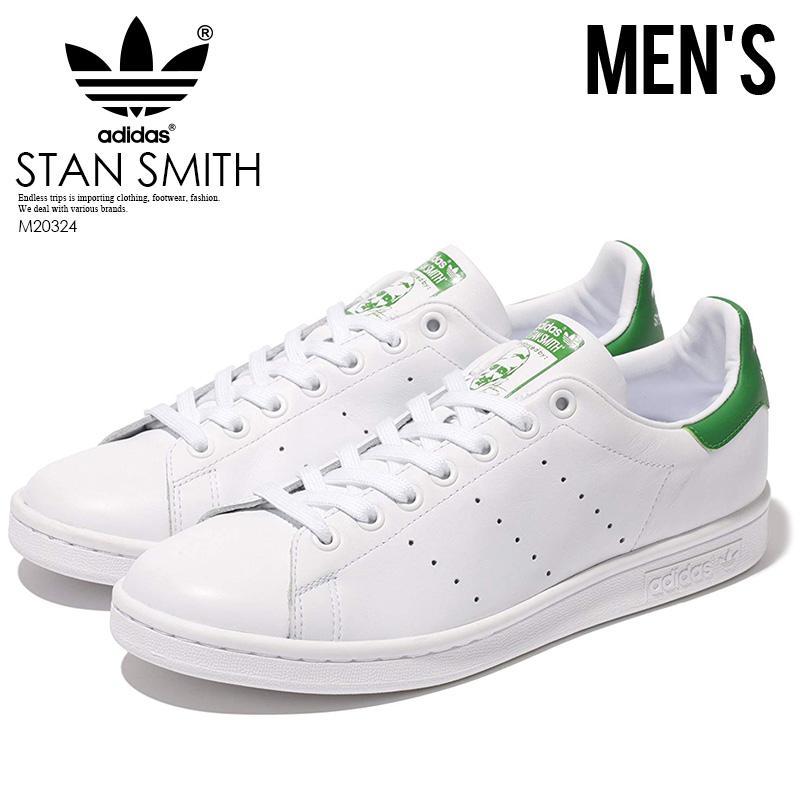 【お買い物マラソン】【メンズ】 adidas Stan Smith Sneaker アディダス スタンスミス メンズ シューズ スニーカー Core White/ Green (白/緑) ホワイト グリーン M20324 【正規品】【即日発送】 ENDLESS TRIP pickup
