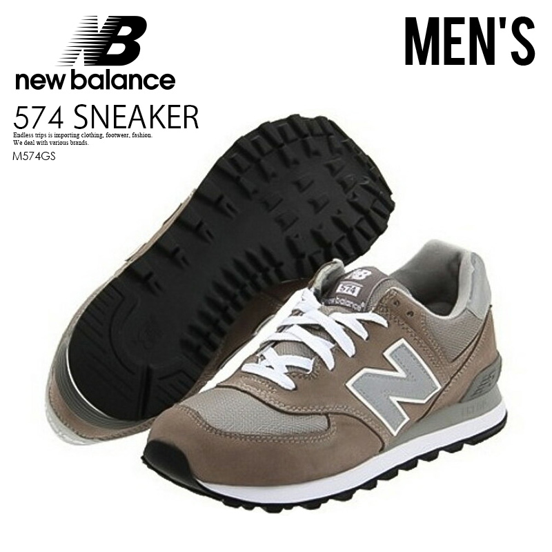 best loved 16504 9f201 Can ship NEW BALANCE CLASSICS M574GS SNEAKER New Balance M574 men sneakers  574 GS Grey (gray) country stock / immediately; ENDLESS TRIP pickup