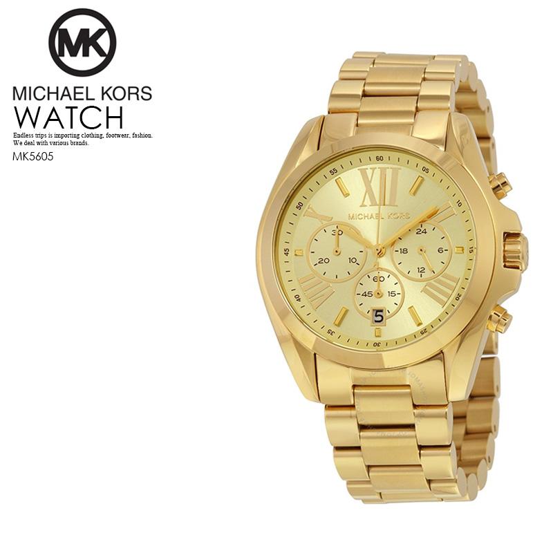 【大人気】 MICHAEL KORS(マイケルコース) レディース 腕時計 クロノグラフウォッチウォッチ GOLD MK5605【国内即納】【正規品】 ENDLESS TRIP