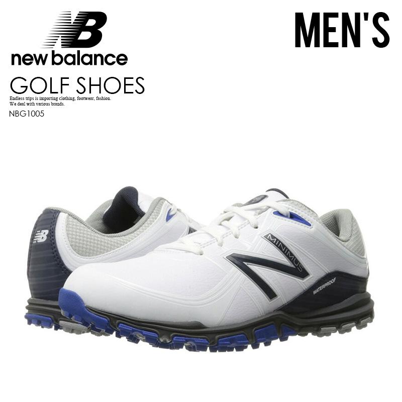 【希少!大人気!メンズ ゴルフシューズ】 NEW BALANCE (ニューバランス) NBG1005 MINIMUS GOLF SHOES (ミニマス) MENS スパイクレス WHITE/BLUE (ホワイト/ブルー) NBG1005 WHITE/BLUE ENDLESS TRIP pickup