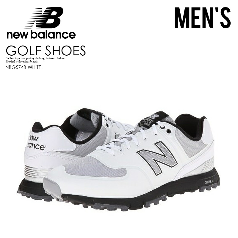 size 40 fb526 21df1 NEW BALANCE (New Balance) NBG574 BREATH GOLF SHOES NBG574B (WHITE) white  574 ENDLESS TRIP