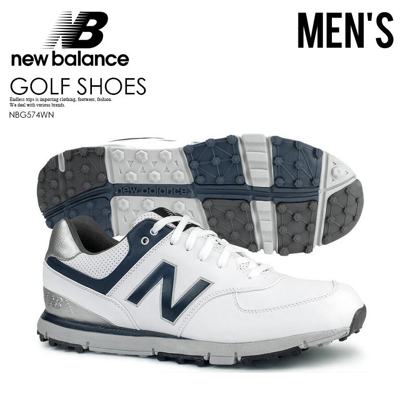 【お買い物マラソン】【希少!大人気!メンズ ゴルフシューズ】 NEW BALANCE (ニューバランス) NBG574 SPIKELESS GOLF SHOES スパイクレス MENS WHITE/NAVY (ホワイト/ネイビー) NBG574WN ENDLESS TRIP ENDLESSTRIP エンドレストリップ