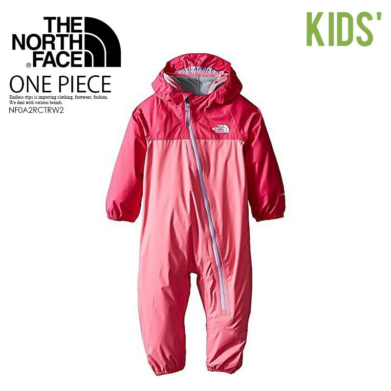 【海外限定!! キッズ モデル】 THE NORTH FACE (ザ ノースフェイス) TRICLIMATE ONE-PIECE (トリクライメート ワンピース) ベビー ジャンプスーツ つなぎ 乳幼児 子供 おしゃれ フリース 防寒 CHA CHA PINK (ピンク) NF0A2RCTRW2 ENDLESS TRIP エンドレストリップ