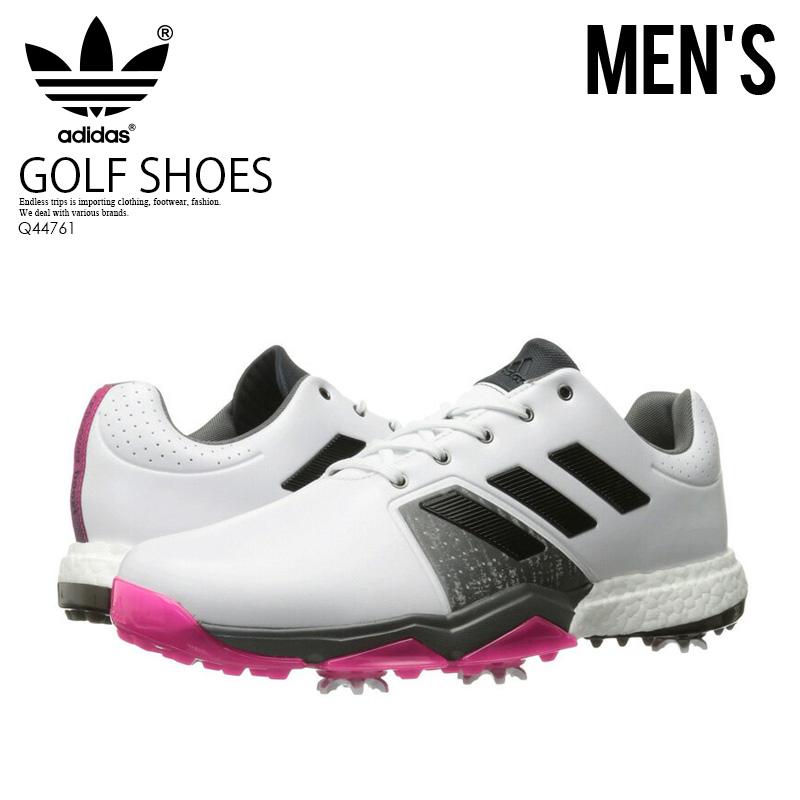 【希少!大人気!メンズ ゴルフシューズ】 adidas (アディダス) ADIPOWER BOOST 3 (アディパワー ブースト) MENS GOLF SHOES スパイク FTWWHT/CBLACK/SHPIN (ホワイト/ブラック) Q44761 ENDLESS TRIP ENDLESSTRIP エンドレストリップ