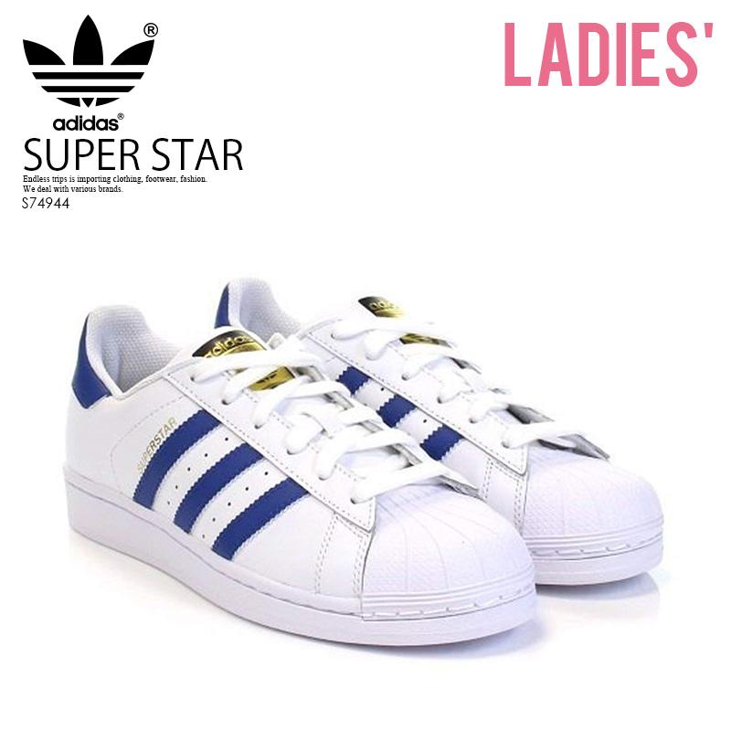 【お買い物マラソン】【あす楽対象商品】【レディース】 adidas ORIGINALS(アディダス)SUPERSTAR FOUNDATION J (スーパースター) レディース シューズ スニーカー FTWWHT/EQTBLU/EQTBLU (ホワイト/ブルー) S74944