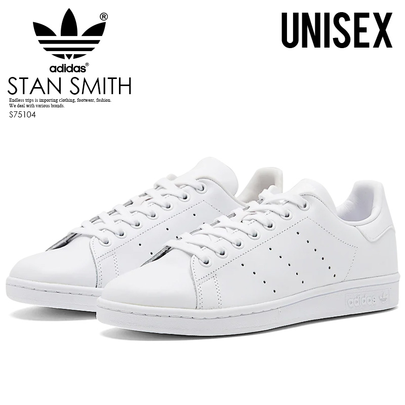 d784ff05723 adidas (adidas) STAN SMITH (Stan Smith) ladies mens shoes sneakers  FTWWHT FTWWHT FTWWHT (all white) S75104