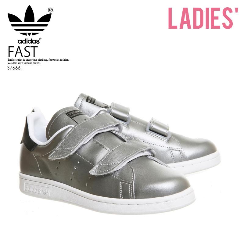 【希少!大人気!レディース サイズ】 adidas(アディダス)FAST (ファスト) ユニセックス メンズ スニーカー SILVMT/SILVMT/CBLACK (シルバー/ブラック) S76661【外箱ダメージあり】