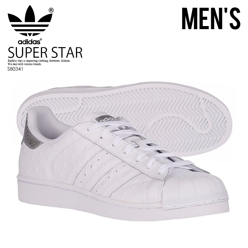 226fb02e196 adidas ORIGINALS (Adidas) SUPERSTAR (superstar) men s shoes sneakers ostrich  FTWWHT FTWWHT SILVMT (white   silver) S80341