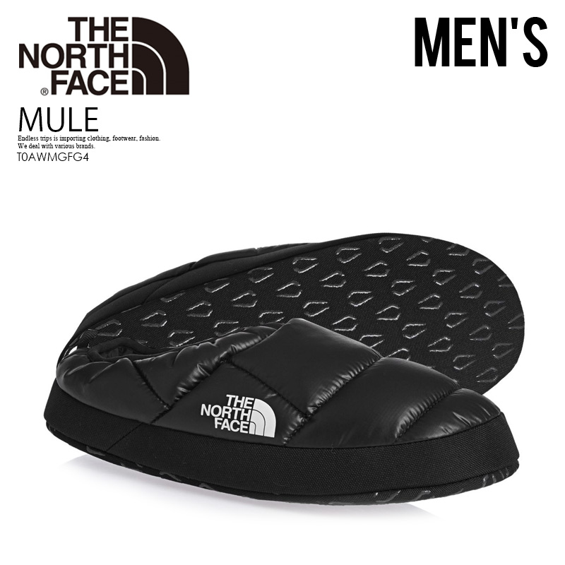 4e70a225a THE NORTH FACE (the North Face) MEN'S NSE TENT MULE III SLIPPERS (tent mule  slippers) quilting slip-on slip-ons SHINY BLACK/BLACK black T0AWMGFG4 ...