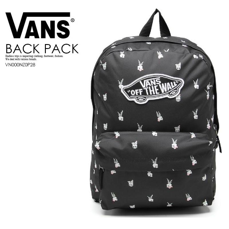 VANS (station wagons) REALM BACKPACK CACTUS PARADISE (Rihm backpack Cactus  paradise) rucksack D bag BLACK (black) VN000NZ0P28 ENDLESS TRIP ENDLESSTRIP  ...