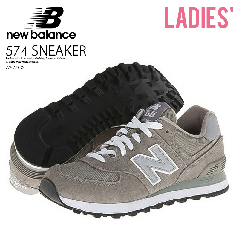 quality design a6ba6 4adea The sneakers of the illusion are received with a limitation of amount at  last! NEW BALANCE 574 New Balance sneakers W574GS GS Grey gray WL574  ENDLESS ...