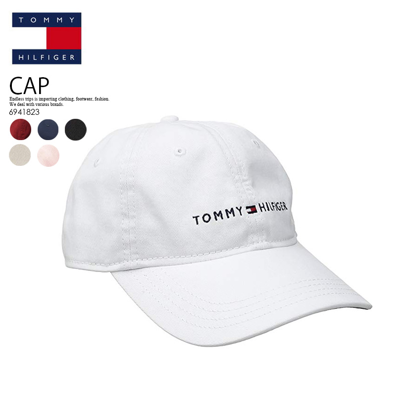 2143fe97a TOMMY HILFIGER トミーヒルフィガーローキャップカーブキャップ LOGO DAD BASEBALL CAP baseball cap  men gap Dis 6941823 100 (white) / 416 (navy) / 608 (red) / 017 (black) /  270 ...
