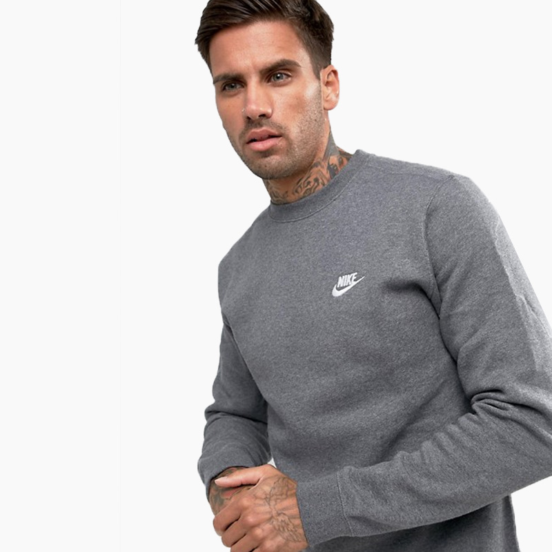 82e6405119c50 NIKE (Nike) CLUB FLEECE CREW SWEATSHIRT (club fleece crew sweat shirt)  trainer raising tops men gap Dis sweat shirt CHARCOAL HEATHR WHITE (charcoal  gray ...