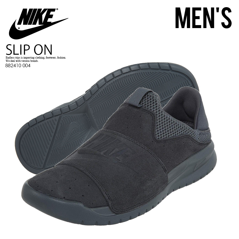 e15a7694a637 NIKE (Nike) BENASSI SLIP (ベナッシスリップ) CARGO KHAKI CARGO ANTHRACITE ANTHRACITE  (anthraseat) charcoal gray mesh MENS sneakers shoes 882410 004 endless ...