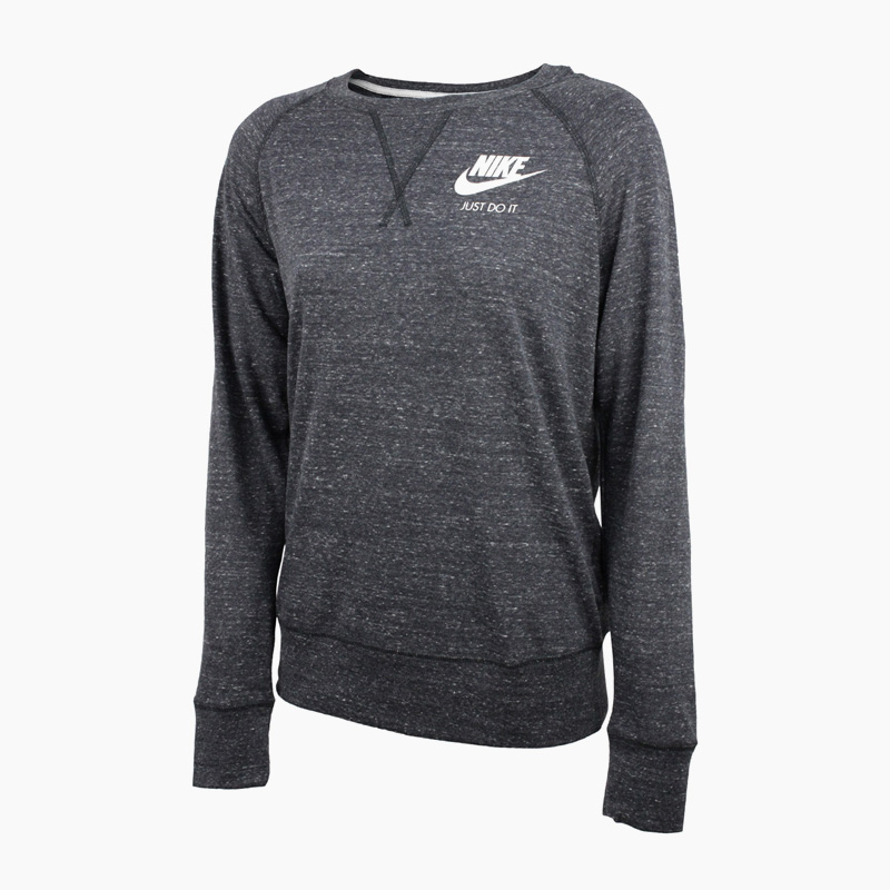 Rakuten Eagles Thanksgiving Day! NIKE Nike WOMENS GYM VINTAGE SWEATSHIRT  (gym vintage sweat shirt) sweat shirt trainer women ANTHRACITE/SAIL (gray