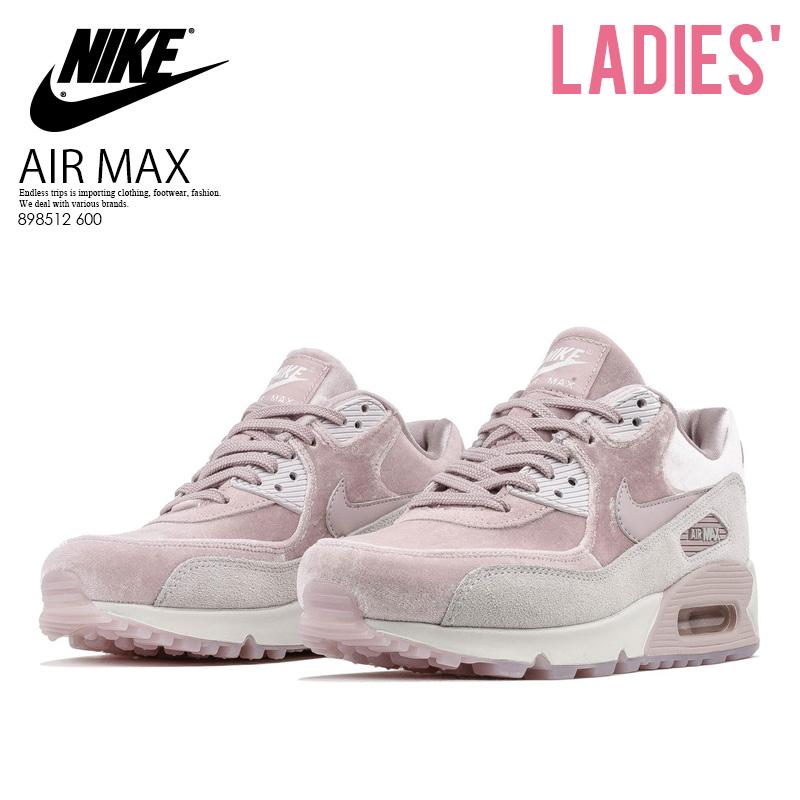【希少! 大人気! レディース モデル】 NIKE(ナイキ)WOMENS AIR MAX 90 LX (エア マックス 90) WOMENS ウィメンズ スニーカー ベロア レディーススニーカー PARTICLE ROSE/PARTICLE ROSE (ローズ) ピンク 898512 600 ENDLESSTRIP エンドレストリップ