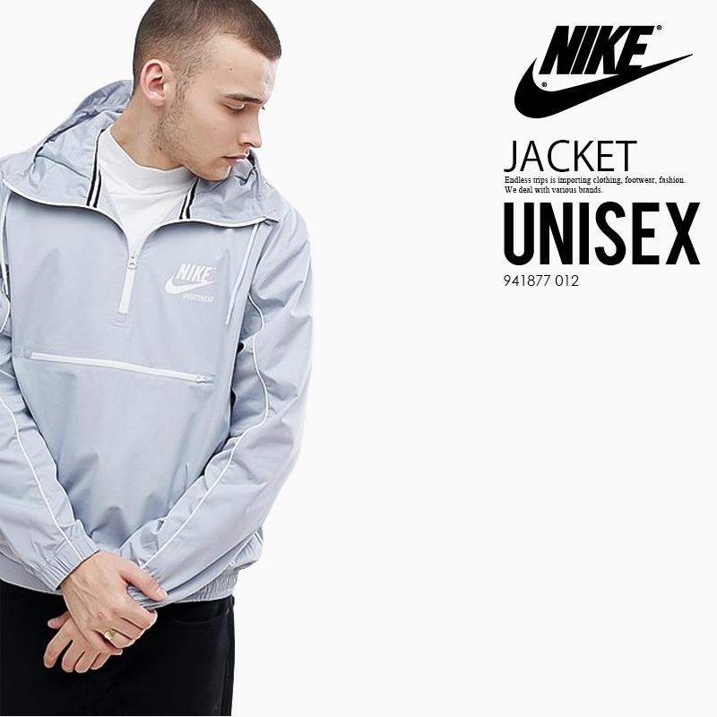 NIKE (Nike) ARCHIVE HALF ZIP WOVEN JACKET (アーカーブハーフジップウーブンジャケット) men's lady's jacket GREY (gray) 941877 012 ENDLESSTRIP end rest lip