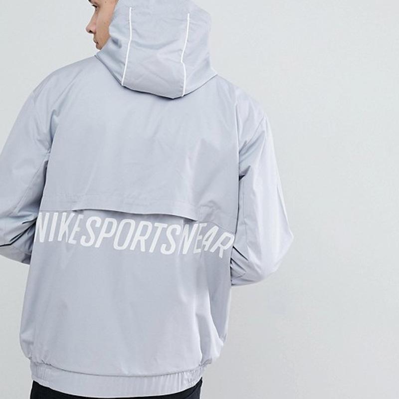 NIKE (Nike) ARCHIVE HALF ZIP WOVEN JACKET (アーカーブハーフジップウーブンジャケット) men s  lady s jacket GREY (gray) 941877 012 ENDLESSTRIP end rest lip 6e248037e