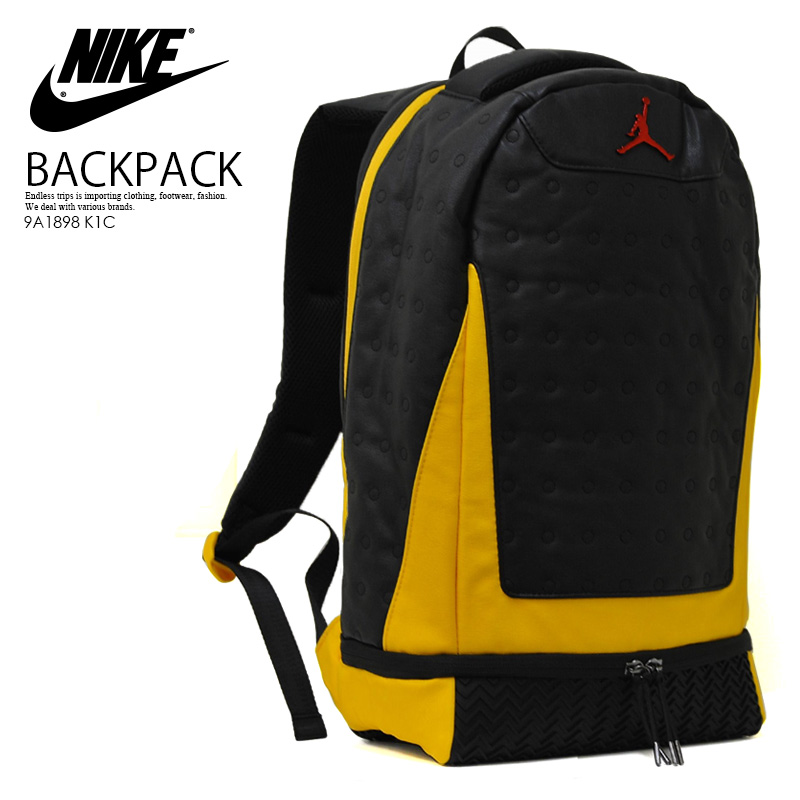 a1ac80f06e4760 NIKE (Nike) JORDAN RETRO 13 BACKPACK (13 Jordan nostalgic backpacks) men s    Lady s day pack rucksack BLACK UNIVERSITY GOLD UNIVERSITY RED (black    gold ...