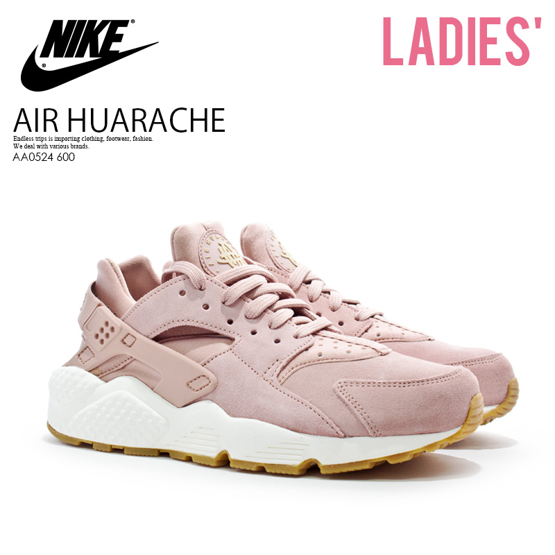 b49b8ca39ce4 NIKE (Nike) WOMENS AIR HUARACHE RUN SD (エアハラチラン) sneakers PARTICLE PINK MUSHROOM-SAIL  (pink) スモーキーピンク AA0524 600 ENDLESS TRIP ENDLESSTRIP end ...