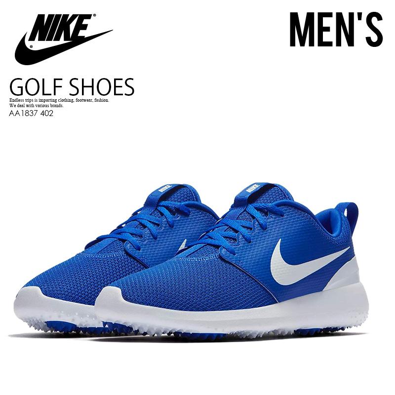 wholesale dealer e01b0 cc561 NIKE (Nike) ROSHE G (ローシジー) MENS GOLF SHOES spikesless golf HYPER  ROYAL/WHITE (blue / white) AA1837 402 ENDLESS TRIP ENDLESSTRIP end rest lip