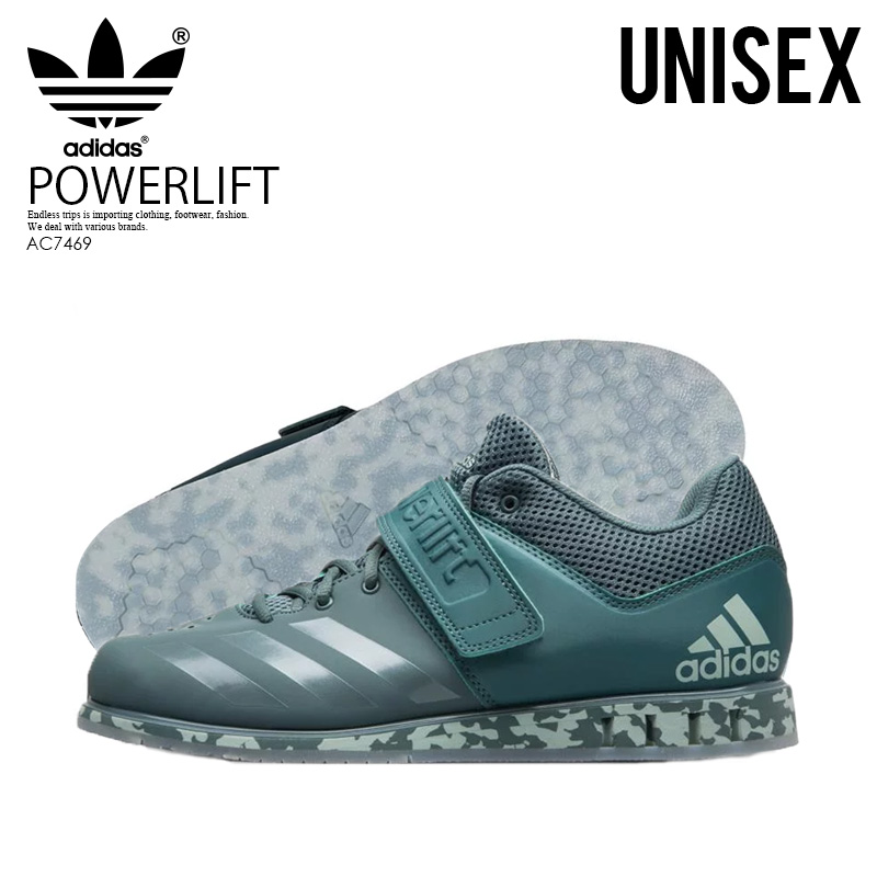 【希少!大人気!ユニセックス モデル】 adidas(アディダス)POWERLIFT.3.1 (パワーリフト) メンズ レディース パワーリフティング ウェイトリフティング 重量挙げ シューズ RAW GREEN/ASH GREEN (アッシュ グリーン) AC7469 ENDLESS TRIP