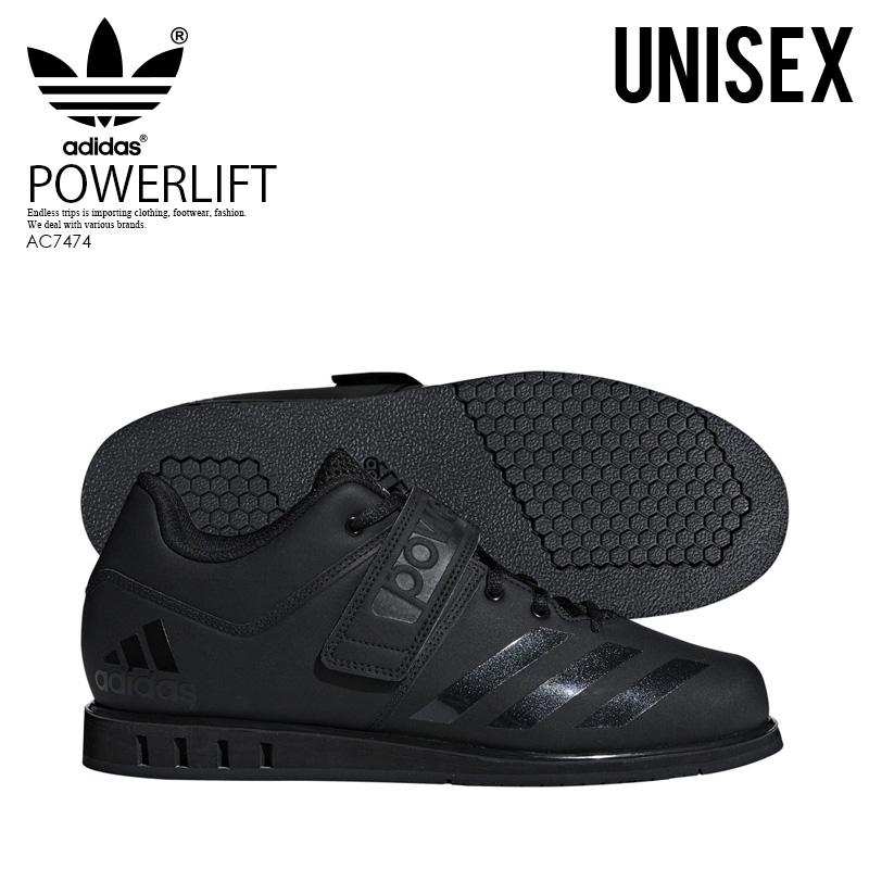 【日本未入荷!希少!ユニセックス モデル】 adidas(アディダス)POWERLIFT.3.1 (パワーリフト) メンズ レディース パワーリフティング ウェイトリフティング 重量挙げ シューズ CORE BLACK/CORE BLACK/CORE BLACK (ブラック) AC7474 ENDLESS TRIP