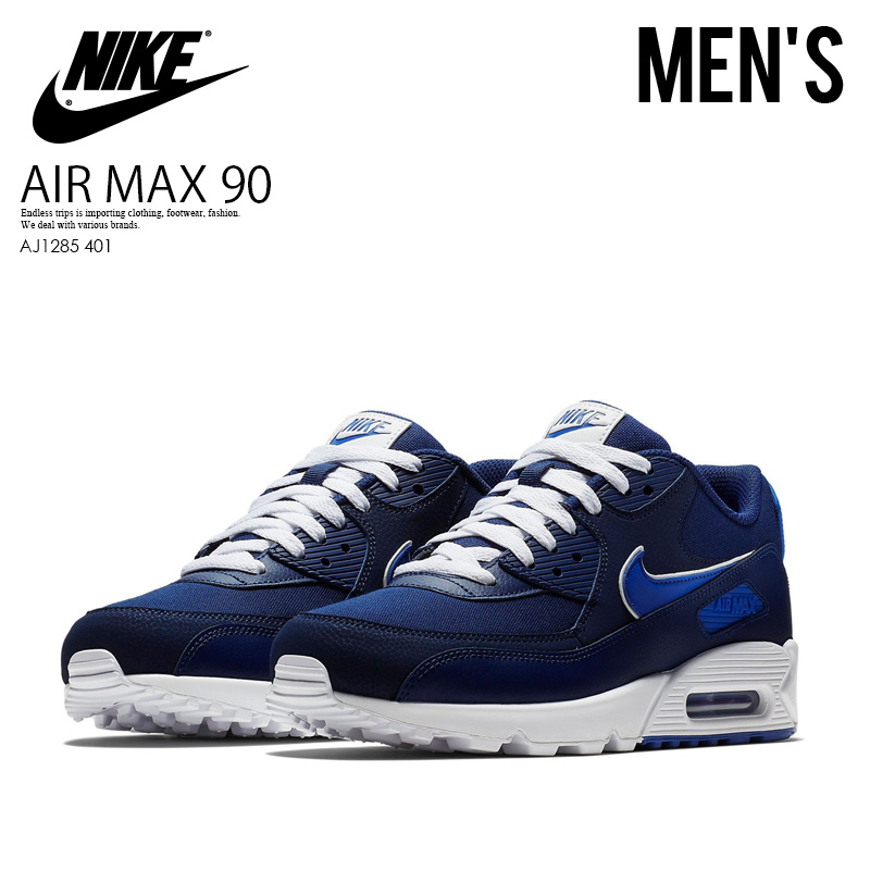 check out ea8b1 8ee9a NIKE (Nike) AIR MAX 90 ESSENTIAL (Air Max 90 essential) sneakers BLUE ...