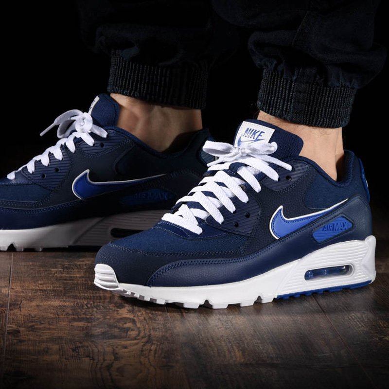 7302c588baa NIKE (Nike) AIR MAX 90 ESSENTIAL (Air Max 90 essential) sneakers BLUE VOID GAME  ROYAL-WHITE (navy   blue) AJ1285 401 ENDLESS TRIP ENDLESSTRIP end rest lip